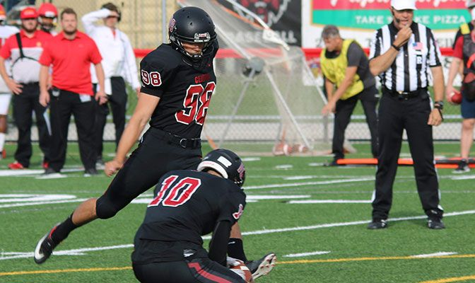 Gavin Todd went 5 for 5 on field goals to break the GNAC single-game record of four, which had been accomplished seven different times.