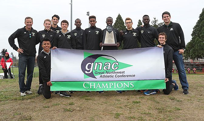 After losing the title to Western Oregon last year, Alaska Anchorage reclaimed the trophy on WOU's home course. Photo by Jaime Valdez.