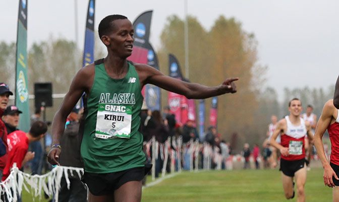 Sophomore Wesley Kirui finished less than a second ahead of teammate Felix Kemboi to win the individual title. Photo by Jaime Valdez.