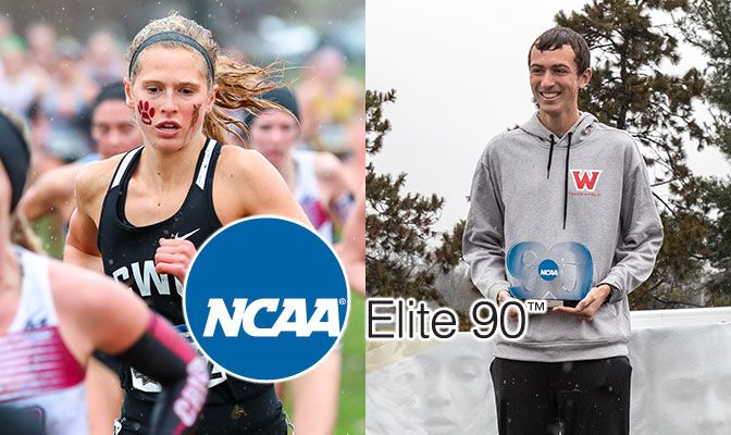 Shindruk (left) and Jones were among three GNAC cross country student-athletes with a 4.00 GPA this season. Photos courtesy of Slippery Rock University.