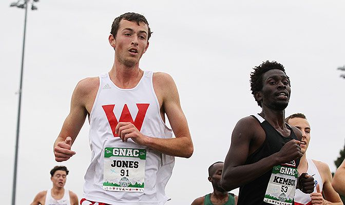 Tyler Jones qualified as an individual for the NCAA Cross Country Championships and received the men's Elite 90 Award for the athlete with the top GPA at the meet. Photo by Jaime Valdez.