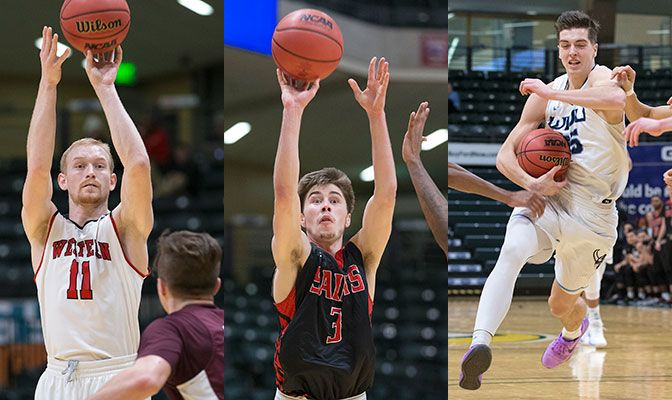 Omlid (left) was named D2CAA West Region Player of the Year while Chavez (center) and Hommes received second-team selection. Photos by Skip Hickey.