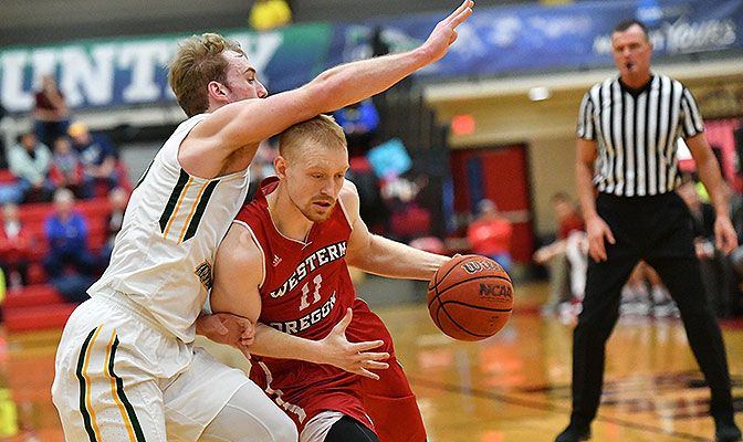 Tanner Omlid returns for his senior season after setting GNAC single-season records last year for steals and steals per game. Photo by Paul Dunn.