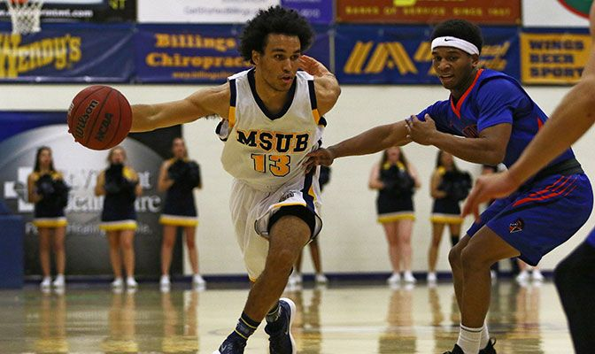 Sophomore guard Tyler Green has led Montana State Billings to a 5-0 record with his 19 points per game, third best in the GNAC.