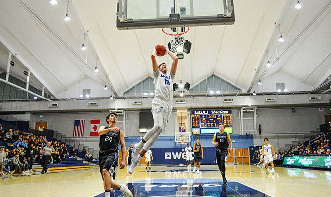 Western Washington is off to a 5-2 record at home this season, thrilling fans with plays like this Logan Schilder dunk.