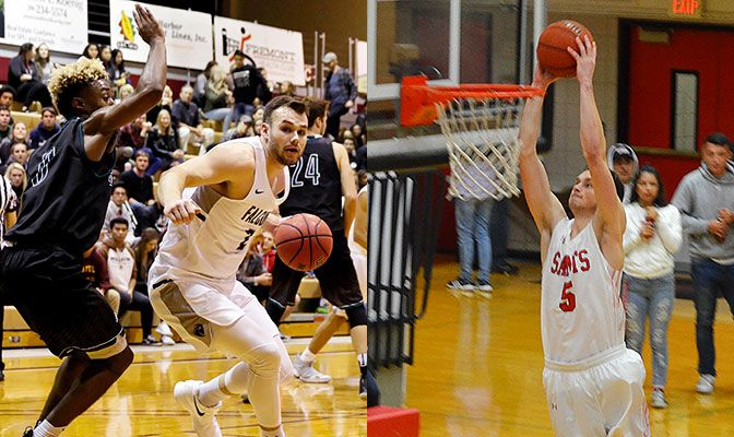 Seattle Pacific's Coleman Wooten (left) and Matt Dahlen (right) led their teams to key wins last week. The two teams will face off on Tuesday night.