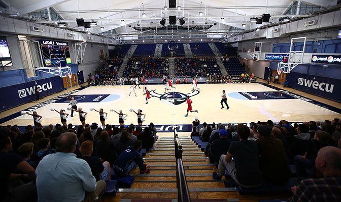 Participants in the 2019 GNAC Basketball Championships will play in the newly renovated Carver Gymnasium.