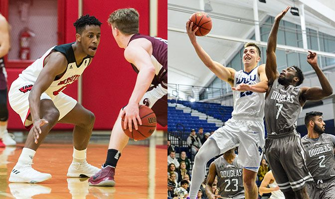GNAC Defensive Player of the Year Malik Morgan of WOU and First Team All-GNAC forward Daulton Hommes of WWU hope to battle it out for the GNAC championship on Saturday.