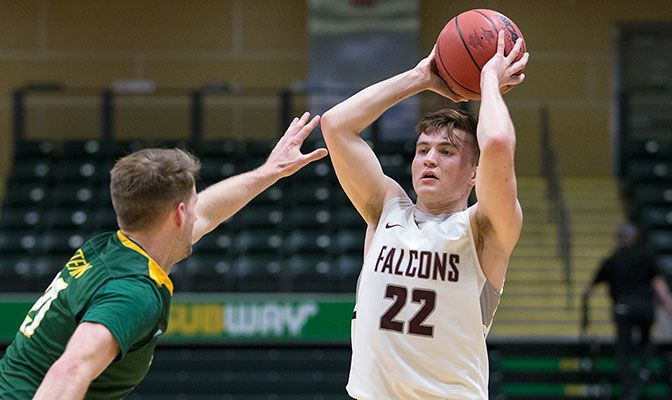 Gabe Colosimo led Seattle Pacific with 17 points, 12 of which came in the second half. Photo by Skip Hickey.
