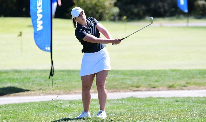 Western Washington sophomore Sarah Shea earned First-Team All-GNAC honors after ranking fourth in the conference with a 81.3 stroke average. Photo by Ron Smith.