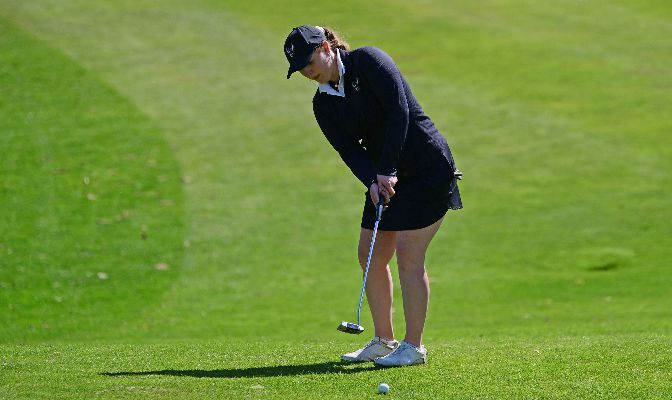 Western Washington's Dani Bailey was named the GNAC Freshman of the Year and earned first-team honors after ranking second in the conference with an 80.7 stroke average. Photo by Ron Smith.