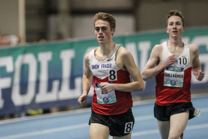 Sophomore Aaron Ahl is off to a hot start on the outdoor track and field season.