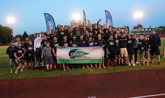 The team outdoor track and field championship is the first for Western Washington since 2015. Photo by Gary Breedlove.