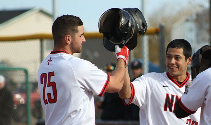 Billy King (left) went 11 for 24 for Northwest Nazarene and hammered six home runs in games against Lewis-Clark State and Montana State Billings.