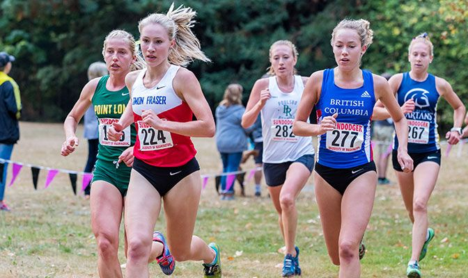 Simon Fraser's Julia Howley finished third at the Sundodger Invitational, her second top-three finish of the season.
