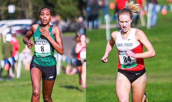 Caroline Kurgat (left) is the defending GNAC champion, but Julia Howley has yet to lose to a GNAC runner all season. Photos by Nick Danielson