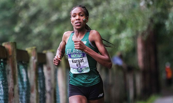 Caroline Kurgat claimed a 56-second victory over the field as she won the individual title in 20:49.42. Photo by Nick Danielson.