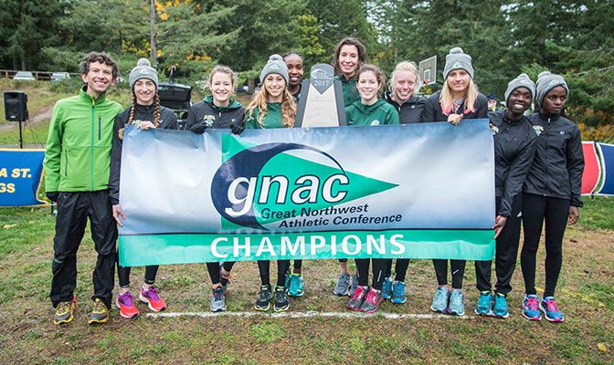 Five Alaska Anchorage runners earned All-GNAC honors as the Seawolves won their eighth title in the last nine years. Photo by Nick Danielson.