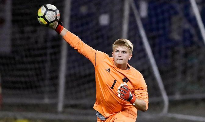 Seattle Pacific goalkeeper Lars Helleren's 16 saves after two matches place him among the national leaders in the category.