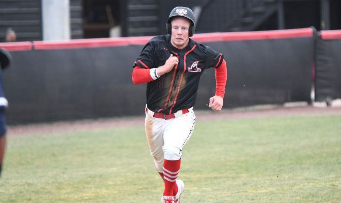 Ryan Dearing is batting .395 with a .522 on-base percentage in 2021. He leads the conference with 44 runs scored and ranks second with 49 hits.