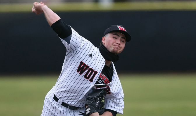 Western Oregon's Matthew Dunaway improved to 2-1 on the season after he pitched a seven-inning complete-game shutout against Saint Martin's on Friday, allowing just one hit and striking out eight.