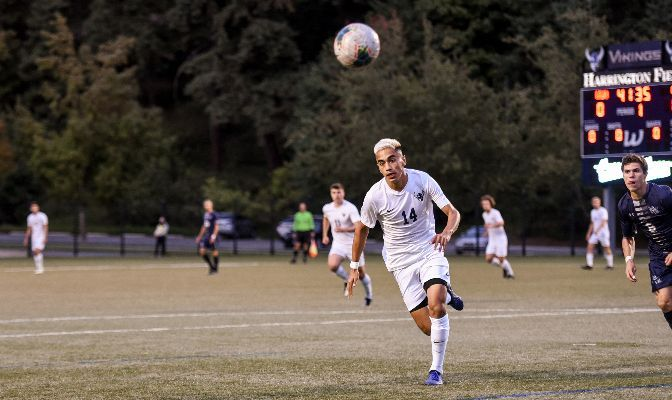Gilbert De La Luz scored three goals in a 4-3 win against Saint Martin's, bringing his total tally to four.
