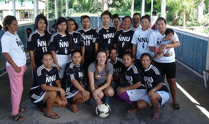 Soccer Provides NNU's Jade Zimmer Worldwide Perspective