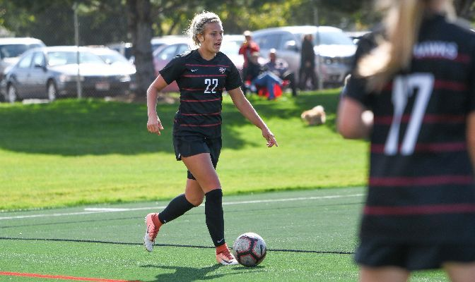 Makayla Roggow started in 17 of NNU's 18 games as a freshman in 2019, scoring two goals and helping the Nighthawks to register five shutouts.