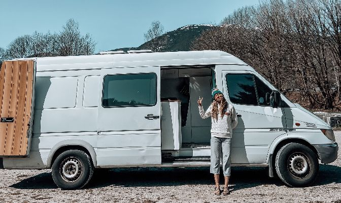 After months of working long hours to save up for a van, Grace Eversaul found a new partner in crime in Roxanne, her Mercedes-Benz Sprinter.