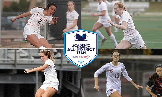 CoSIDA Academic All-District 8 Selections (Clockwise From Top): Jade Zimmer (NNU), Rikki Myers (NNU), Sophia Chilczuk (SPU) and Mariah Alexander (SPU).