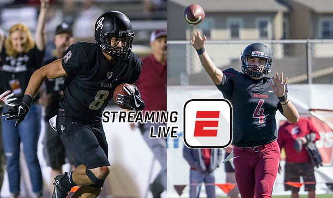 Weston Carr (left) and Reilly Hennessey will leaver their respective teams when they face off on Sat., Oct. 6, in a GNAC football contest thast will be streamed on ESPN3.