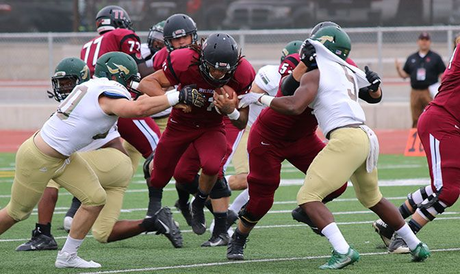 Central Washington running back Cedric Cooper rushed for 203 yards Saturday in the Wildcats' 74-28 drubbing of Southwest Baptist.