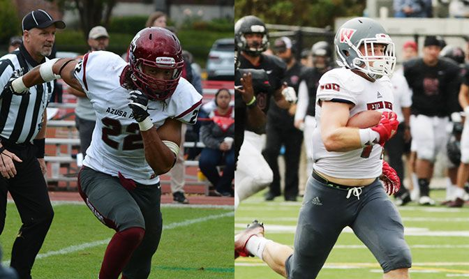 Aaron Berry (left) and Bo Highburger led the GNAC in total tackles and ranked in the NCAA Division II top-50 in numerous defensive statistical categories.