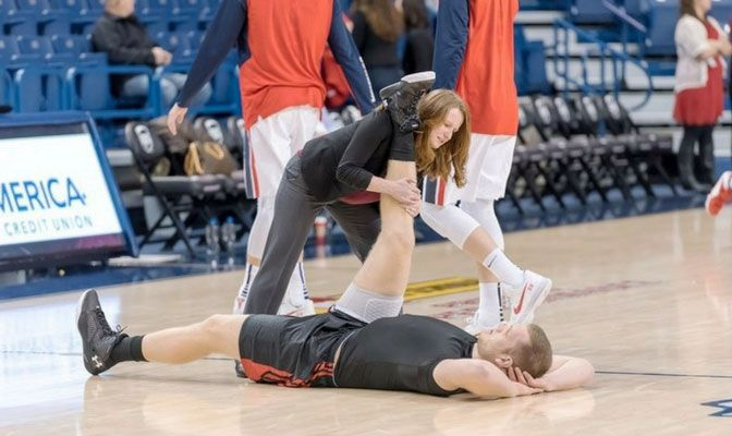 In addition to her athletic training duties, Loebsack is SMU's assistant athletic director for sports medicine and wellness and the department's senior woman administrator.