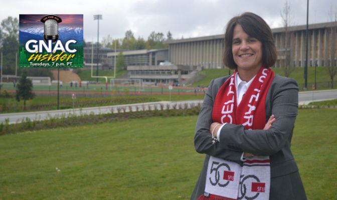 Hanson is in her third year as Simon Fraser's athletic director and is the first-ever female to lead the Clan's athletic department.