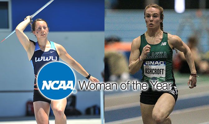 In addition to the NCAA Woman of the Year nomination, Bethany Drake (left) and Jamie Ashcroft were both named CoSIDA Academic All-Americans.