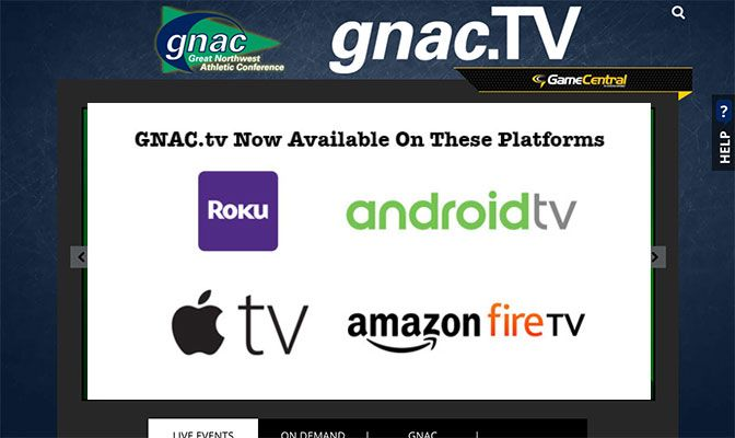With the four over-the-top (OTT) apps, GNAC games are available to 88 percent of consumers who own telvision streaming apps.