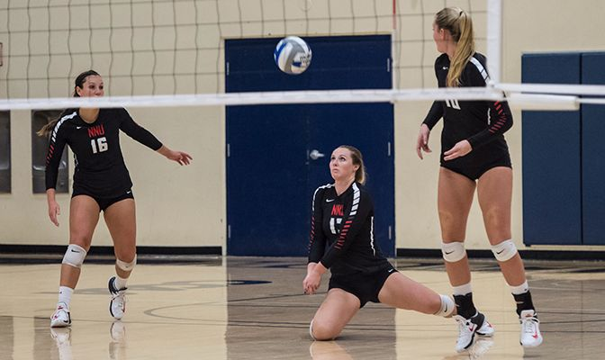 Northwest Nazarene leads all GNAC teams in hitting percentage (.260), opponent hitting percentage (.146) and assists (13.42).