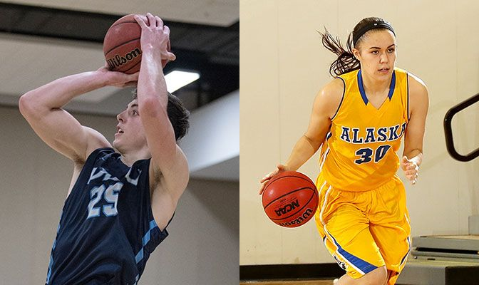 Hommes (left) scored 37 points in Western Washington's 80-76 win over Harding in Hawaii on Saturday. Williams set a UAF record with nine three-pointers in the Nanooks' Saturday win over Multnomah.