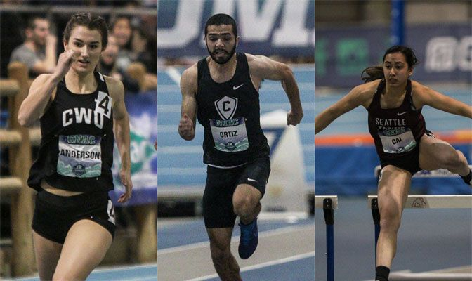 The Concordia men earned its first GNAC Indoor Track and Field title while the Seattle Pacific and Central Washington shared the women's title with 136 points each.