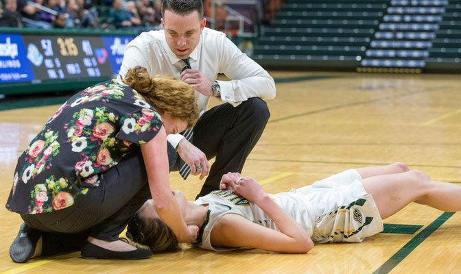 Rachel Butler is in her seventh year on the athletic training staff at Alaska Anchorage and her first as the head athletic trainer.