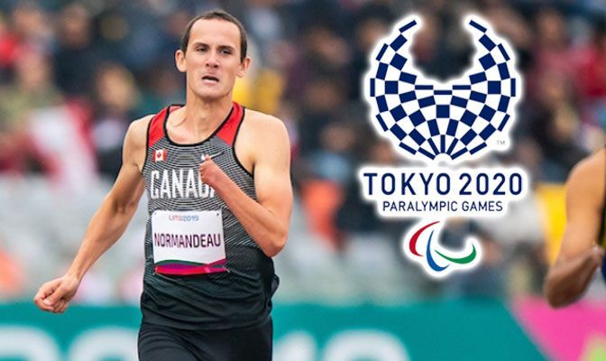 Thomas Normandeau competed in the 800 meters and 1,500 meters at Western Oregon and has a lifetime best of 49.86 seconds in the 400 meters. Photo courtesy of Canadian Paralympic Committee.