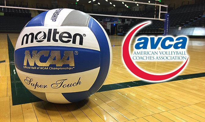 Team nominated by member coaches for the AVCA Team Academic Excellence Award had to have a minimum 3.30 cumulative grade point average.