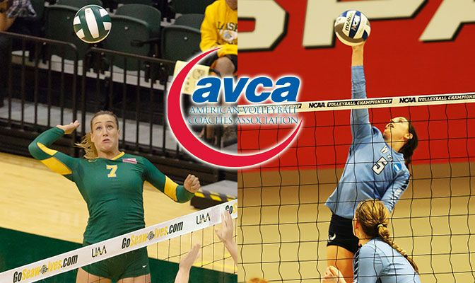 Alaska Anchorage and Western Washington is led by a pair of All-Americans in Leah Swiss (left) and Abby Phelps.