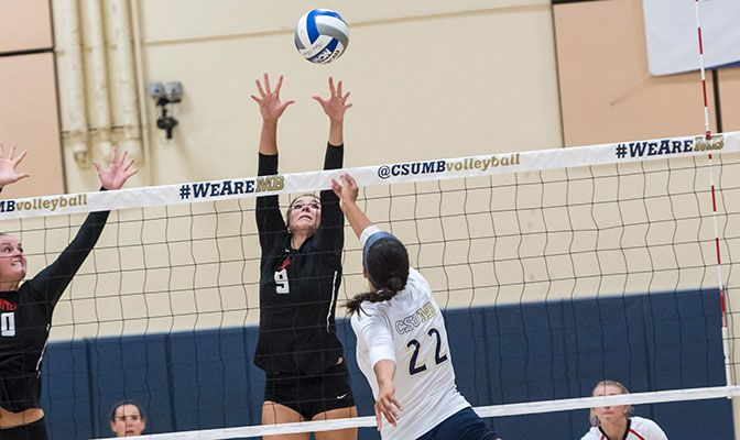 Northwest Nazarene's Kendra Bodine earned GNAC Defensive Player of the Week honors as the Crusaders earned the No. 16 spot in the AVCA Division II Coaches Poll.