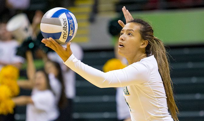 Alaska Anchorage's Keala Kaio-Perez earned GNAC Defensive Player of the Week honors with 7.71 digs per set and four aces in two victories.