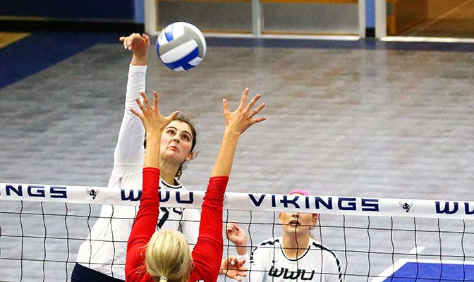 Western Washington's Joslyn Bopray is second in Division II in blocking, averaging 1.47 blocks per set.