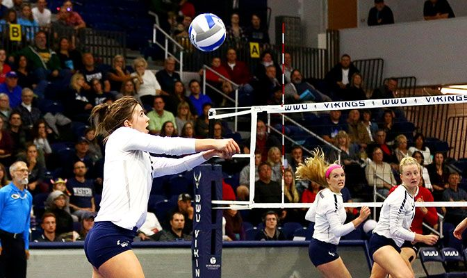 Western Washington's Abby Phelps earned GNAC Defensive Player of the Week honors for her 36 digs and six blocks in wins over Western Oregon and Concordia.