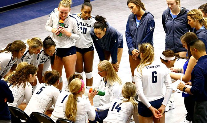 Western Washington has won 16 straight matches and has not lost since Sept. 16. Their last loss was at Northwest Nazarene in four sets.