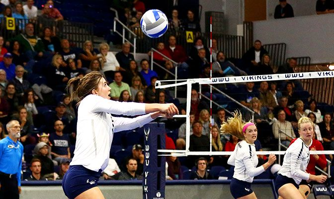 Abby Phelps was named by coaches as the 2017 Player of the Year after finishing the regular season ranked second in the league in kills and points.